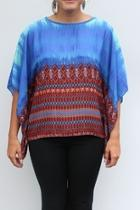 Sheer Flowing Colorful Top