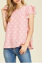 Pink Polka-dot Blouse