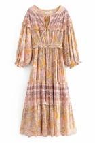 Evelyn Print Maxi-dress