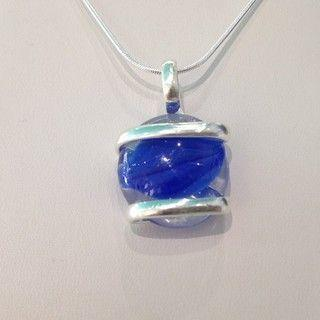 Blue Swirl Pendant Necklace