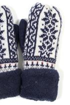 Snowflake Knit Mittens