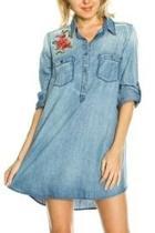 Denim Embroidered Tunic