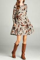 Dress Tunic Knit Print