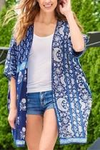 Blue Kimona Coverup