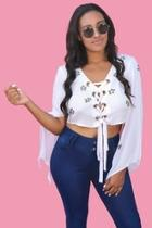 Lilac Laceup Blouse
