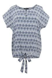 Ikat Blue Blouse
