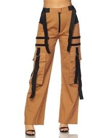 Suede Strap Pants