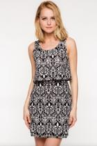 Over-lay Patterned Dress