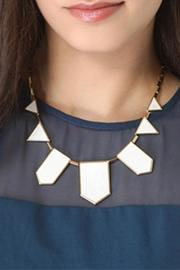 White Pyramid Necklace