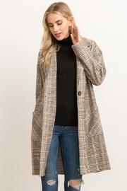 Oversized Plaid Duster Coat