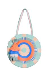 Stonewashed Opal Blue Round Tote