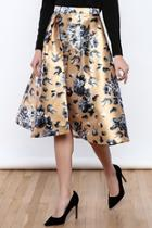Champagne Floral Skirt