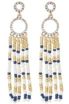 Navy/white Tassel Earrings