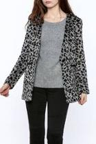 Leopard Blazer Style Coat
