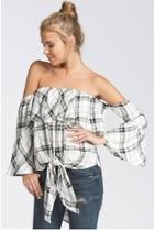 Plaid Tiefront Top