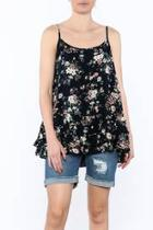 Midnight Blue Floral Blouse