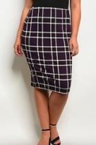 Purple Plaid Pencil-skirt
