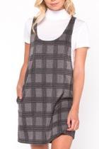 Plaid Layered Dress