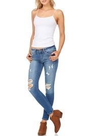 Distressed Crop Denim Jeans