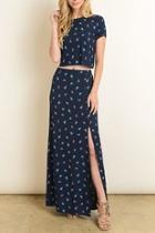 Rosette Maxi Skirt