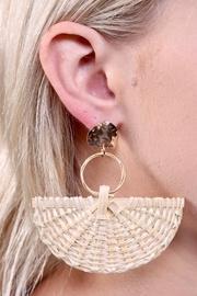 Rattan Fan Earrings