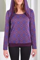 Hooded Rhombus Pullover