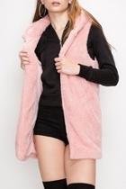 Pink Faux-fur Vest