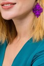 Purple Statement Earrings