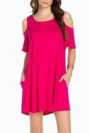 Cold Shoulder Fuschia Dress