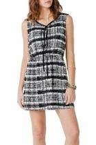 Black Printed Sleeveless Dress