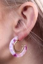 Rimmed Resin Earrings