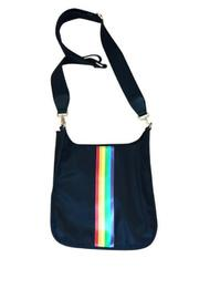 Nylon Messenger W/rainbow Stripe