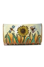 Hand-painted Sunflower Wallet