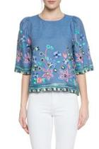 Chambray Embroidery Top