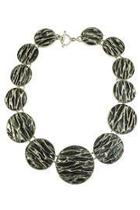 Corrugated Circle Necklace