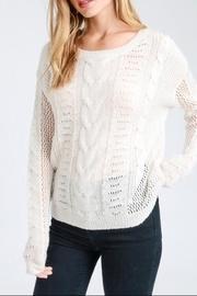 Ivory Round-neck Sweater