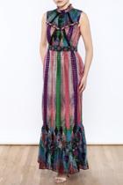 Metallic Maxi Dress