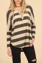 Striped Hacci Top