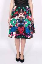 Flaring Printed Skirt