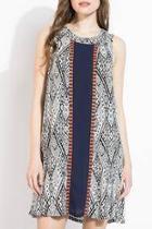 Geometric Sleeveless Mini Dress