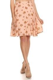 Peach Floral Skirt