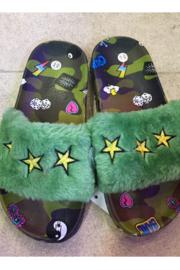 Camouflage Star Furry Slides