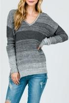 Charcoal Ombré Sweater