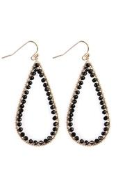 Rondelle Wire-stitched Teardrop-earring