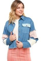 Color-block Denim Jacket