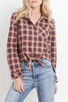 Plaid Buttondown Blouse