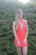 Plunge Party Dress