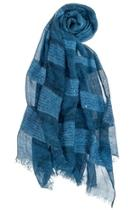 Tonal-stripe Sequin Scarf