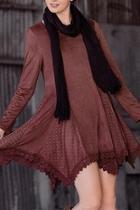 Rust Fauxsuede Dress