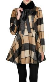 Camel Checkered Coat